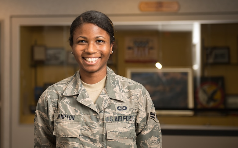 portrait of A1C Hampton