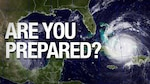 Large hurricane approaches Florida coast.