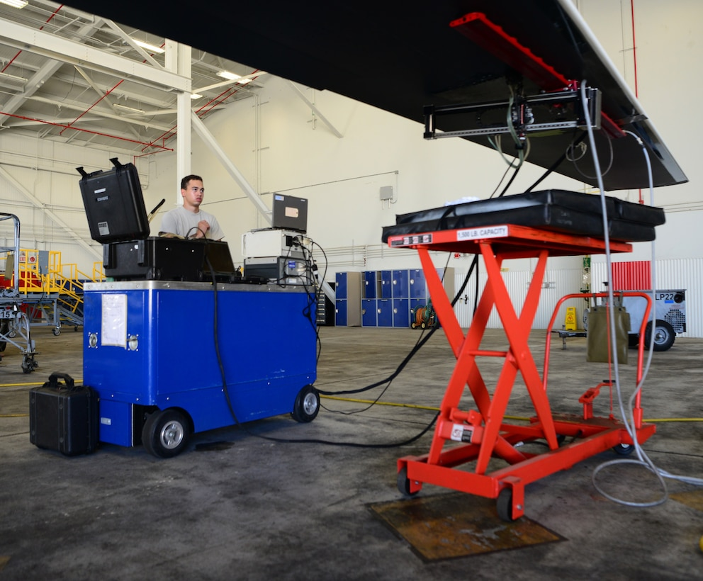 Beale NDI team's unique, time-saving RQ-4 inspection process