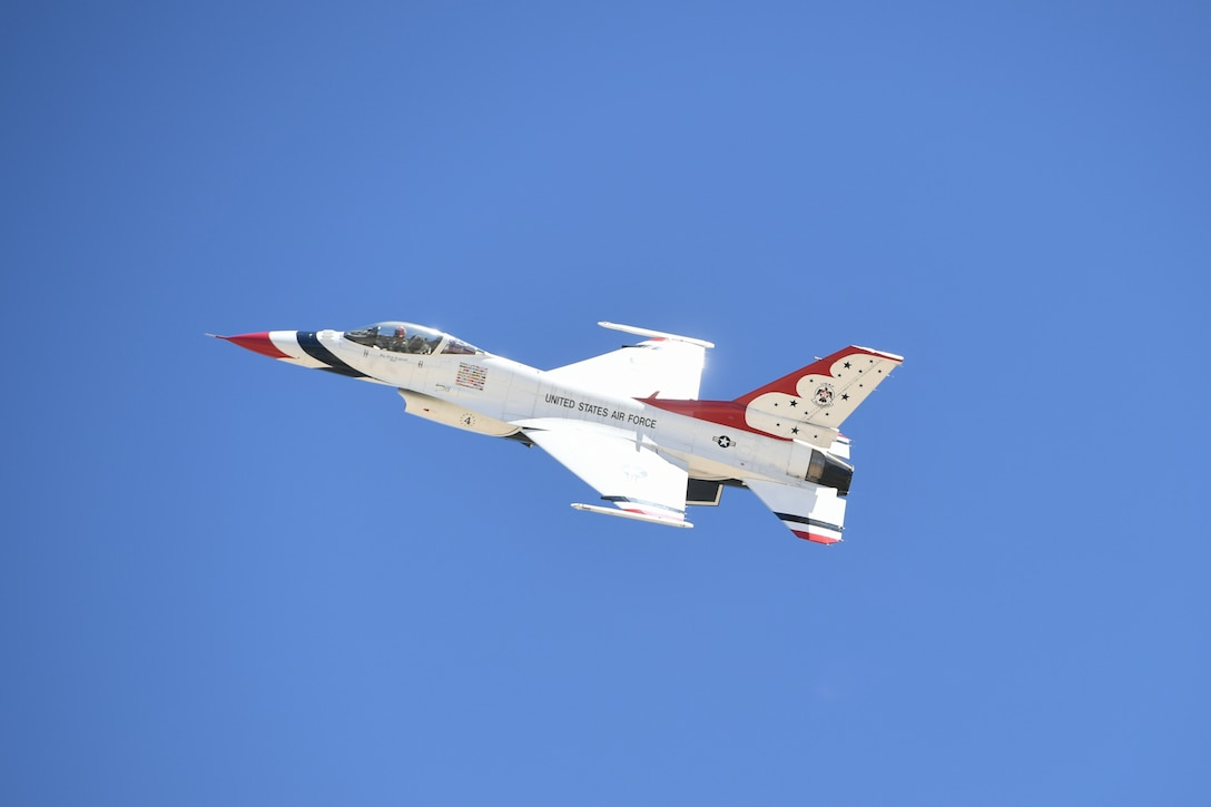 The U.S. Air Force Thunderbirds arrived June 21, 2018, at Hill Air Force Base, Utah, for the Warriors Over the Wasatch Air and Space Show June 23-24. (U.S. Air Force photo by Cynthia Griggs)