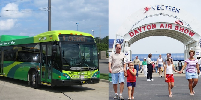 Visitors to the National Museum of the U.S. Air Force who are interested in taking an easy route to the Vectren Dayton International Air Show can board RTA shuttle buses that will run to and from the museum, dropping off riders at the Air Show main gate from 8 a.m.-6 p.m. on June 23-24. Shuttles depart from both locations approximately every 10 minutes. The cost for a round trip ticket is $3, and children age 5 and under ride free. Only cash will be accepted (an ATM is available inside the museum, if needed). For more information about the RTA shuttle service, please call (937) 425-8300.