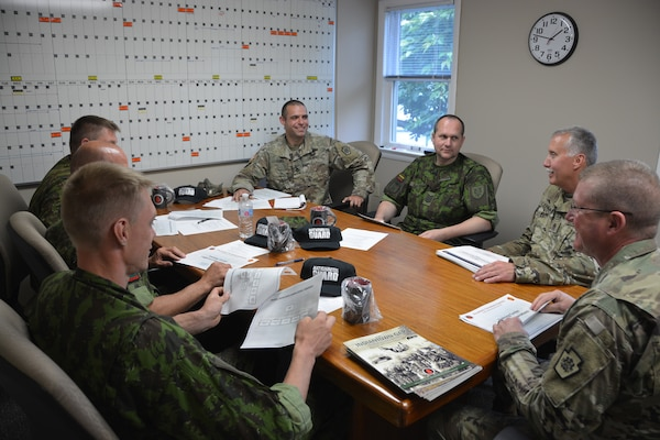 Members of Fort Indiantown Gap's billeting and logistics team met with Lithuanian training center Soldiers during a range exchange visit June 10. (