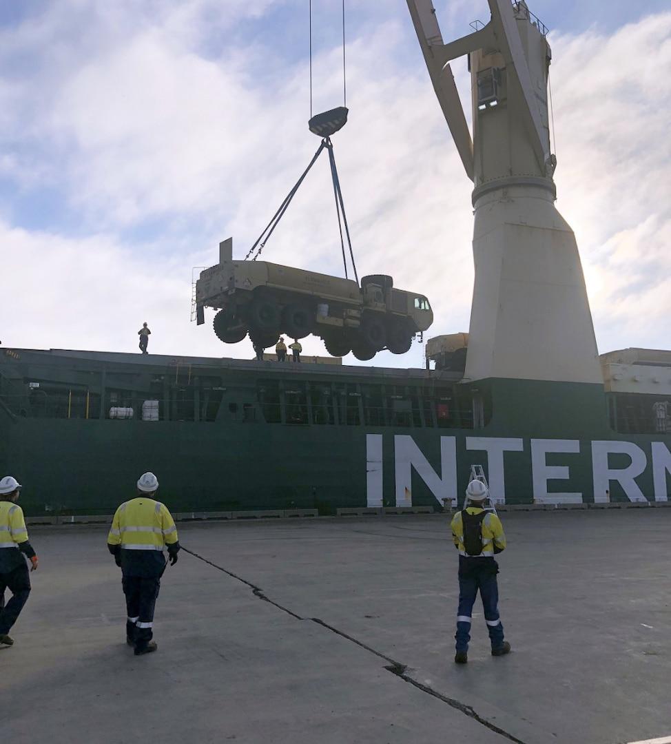 MV Ocean Grand Travels Pacific Pathways, Delivers Gear in Australia