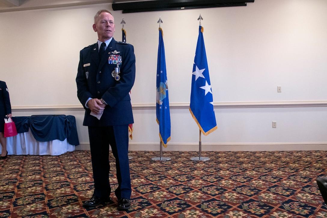 Photo of Maj. Gen. John K. McMullen at his retirement