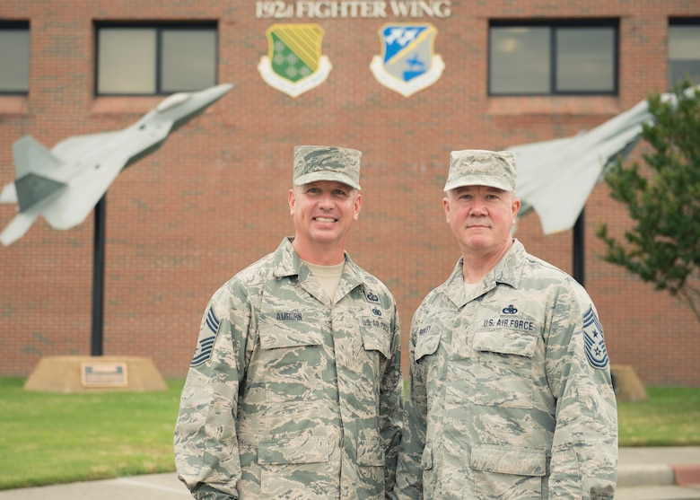 192nd Fighter Wing welcomes new wing command chief
