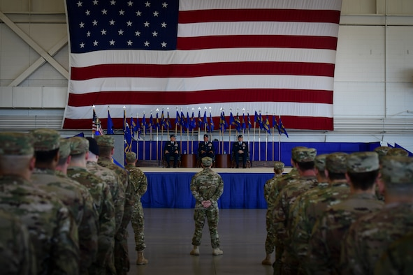 Air Commandos gather for the 1st Special Operations Wing change of command ceremony at Hurlburt Field, Fla., June 22, 2018. U.S. Air Force Col. Tom Palenske, outgoing commander of the 1st SOW, relinquished command to U.S. Air Force Col. Michael Conley, former vice commander of the 27th Special Operations Wing, Cannon Air Force Base, New Mexico, after leading the wing for approximately three years as both the vice and wing commander.