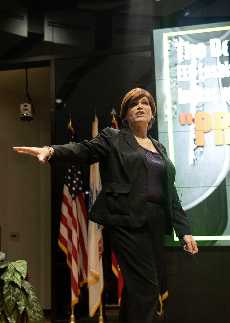 Tara Allison tells her life story during the DSCC LGBT Pride Program