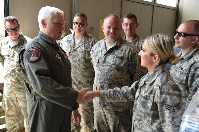 Director of the Air National Guard visits the troops