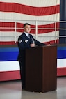 U.S. Air Force Senior Airman Cory Moheit, 20th Component Maintenance Squadron electronic warfare systems team member, speaks at his brothers memorial at Shaw Air Force Base, S.C., June 20, 2018.