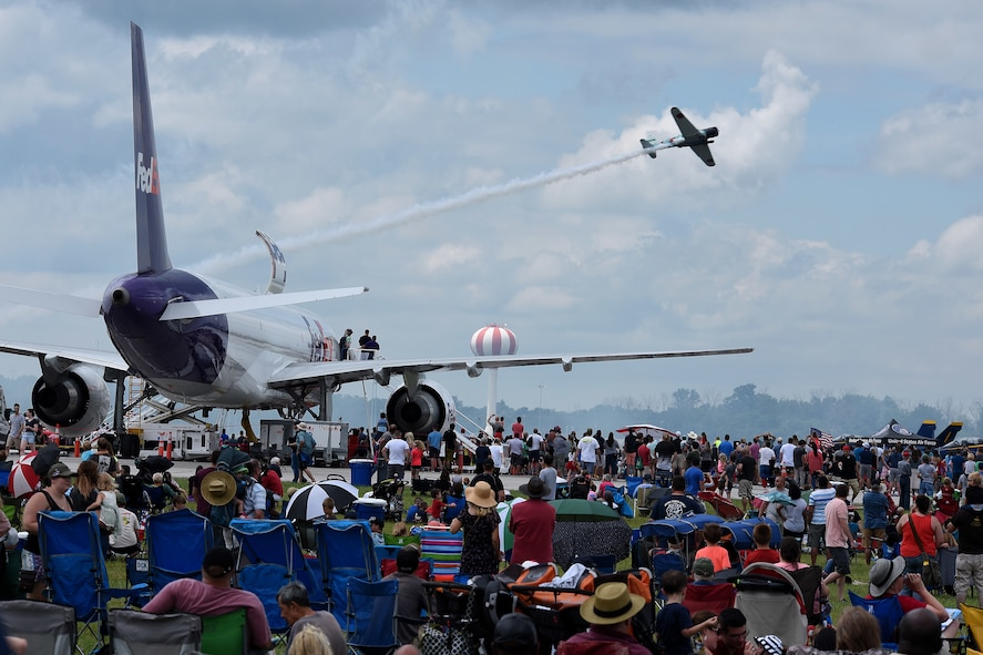 Crowds gather for the Vectren Dayton Air Show on June 23, 2018.  (U.S. Air Force photo by Ken LaRock)