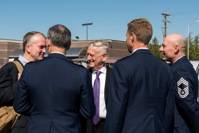 SECDEF VISITS EIELSON