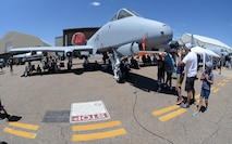 Air show visitors check out an A-10 Thunderbolt II during the Warriors over the Wasatch Air and Space Show June 23, 2018, at Hill Air Force Base, Utah. (U.S. Air Force photo by Alex R. Lloyd)