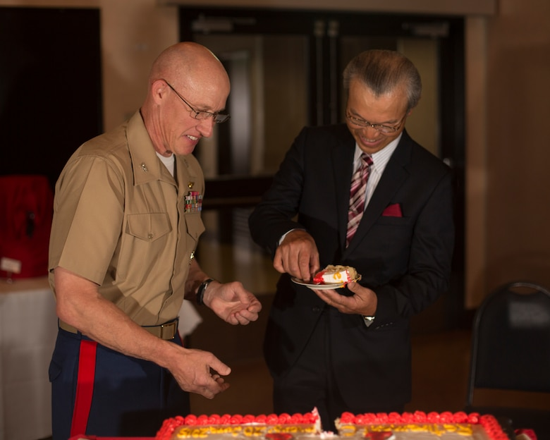 Japanese employees retire from air station with 488 combined years of service