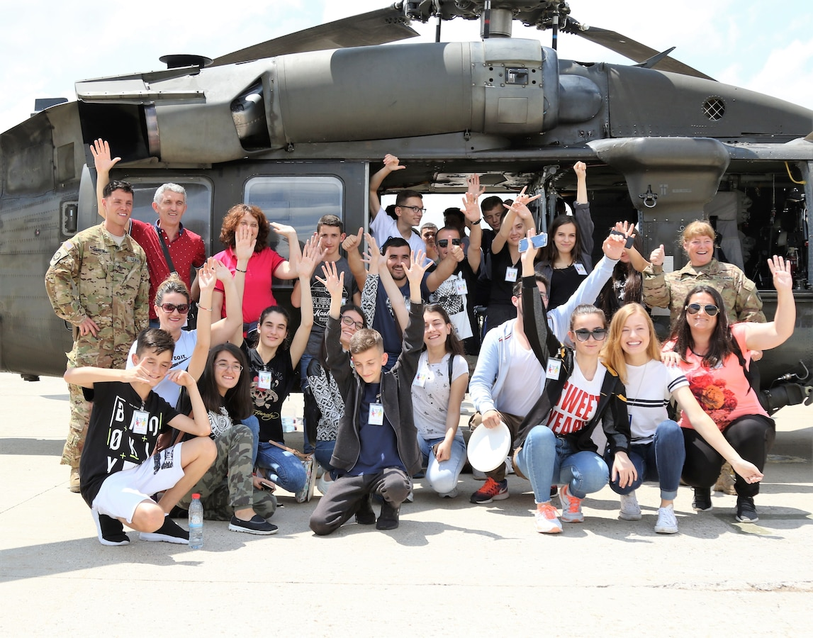 Albanian and Kosovar-Serbian youth learn about NATO, find common ground on Camp Bondsteel