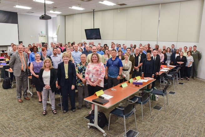 More than 100 Defense Contract Management Agency employees participated in a Special Programs Workshop at Fort Lee, Va., June 5-7, 2018. The multi-functional workshop covered a broad range of topics, some unique to Special Programs, a directorate within DCMA that covers programs with increased security protocols. (DCMA photo by Patrick Tremblay)