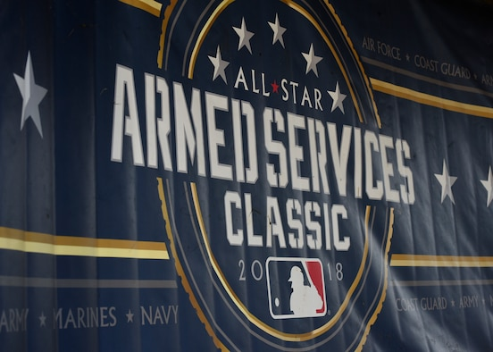 An Armed Services Classic banner is shown at Jericho Park in Bowie, Md., June 23, 2018. On the final day of the preliminary round, the Air Force beat the Marines 11-9 and lost to the Navy 10-6. (U.S. Air Force photo by Senior Airman Abby L. Richardson)
