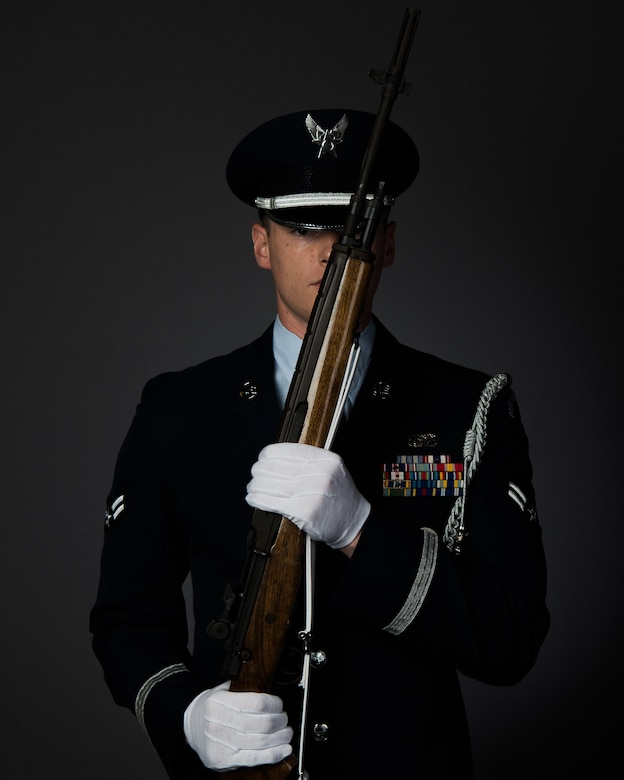 U.S. Air Force Airman 1st Class Christopher Clement, 633rd Communications Squadron communications specialist, and member of the Joint Base Langley-Eustis Honor Guard, recently travelled to Puerto Rico to perform funeral services for eight of the nine Puerto Rico National Guardsmen killed in a May 2, 2018 aircraft mishap.