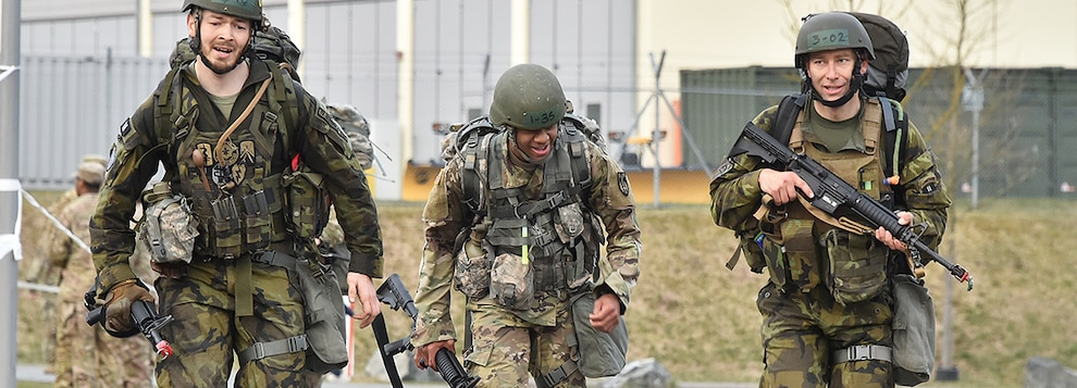 The EFMB competition reinforces individual Soldier skills and strengthens ties with multi-national allies and partners.