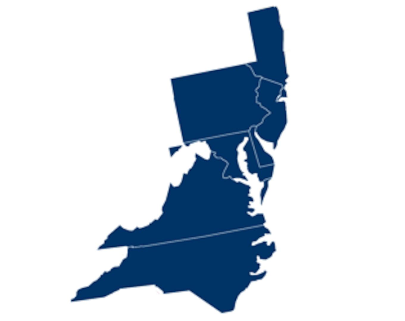 District 5: Delaware, Maryland, New Jersey, North Carolina, Pennsylvania, Virginia, Washington D.C
