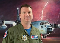 Maj. Christopher Dyke is an aerial reconnaissance weather officer in the 53rd Weather Reconnaissance Squadron, an Air Force Reserve unit in the 403rd Wing, Keesler Air Force Base, Mississippi. Dyke has flown 337 sorties and has more than 1,200 flight hours gathering information that improves National Hurricane Center forecasts and storm warnings, which helps to ensure public safety. (U.S. Air Force photo/Maj. Marnee A.C. Losurdo)