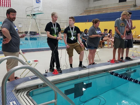 CRANE, Ind. - Students from Indiana elementary, middle and high schools competed at the International SeaPerch Challenge at the University of Massachusetts in Dartmouth.