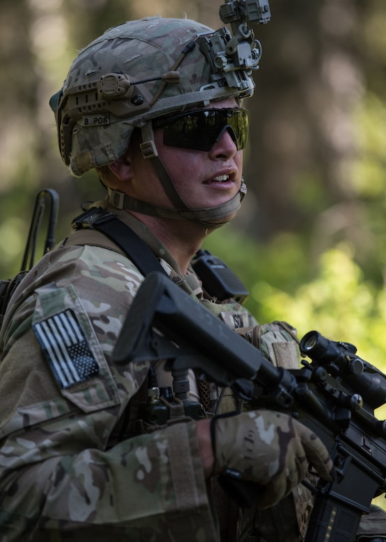 U.S. Army Alaska infantrymen from the 1st Stryker Brigade Combat Team, 25th Infantry Division, and Japan Ground Self-Defense Force soldiers from the 1st Airborne Brigade execute platoon movement-to-contact and support-by-fire operations during Exercise Arctic Aurora at Joint Base Elmendorf-Richardson, Alaska, June 14, 2018. Arctic Aurora is an annual bilateral training exercise involving elements of U.S. Army Alaska and the JGSDF which focuses on strengthening ties between the two nations by executing combined small-unit airborne proficiency operations and basic small-arms marksmanship.