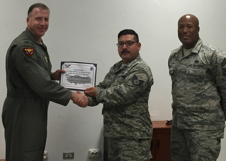 INCIRLIK AIR BASE, Turkey – Congratulations to Tech. Sgt. Daniel Ayala, 39th Maintenance Squadron bay chief, for winning the permanent party Larger Than Life award at Incirlik Air Base, Turkey, June 27, 2018.