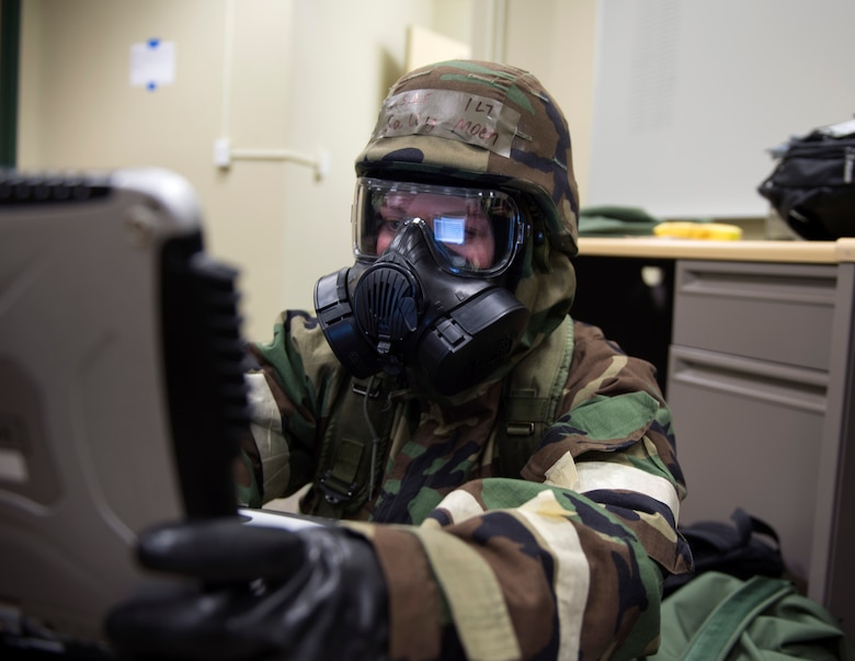 U.S. Air Force Airmen from the 133rd Airlift Wing participate in a training exercise which covered Ability-To-Survive and Operate principles, or ATSO, at the Alpena Combat Readiness Training Center in Alpena, Mich., May 19, 2018.