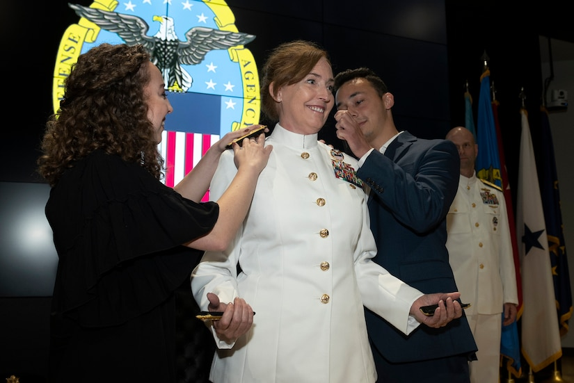 U.S. Navy Rear Adm. Michelle Skubic garnered her second star in a promotion ceremony