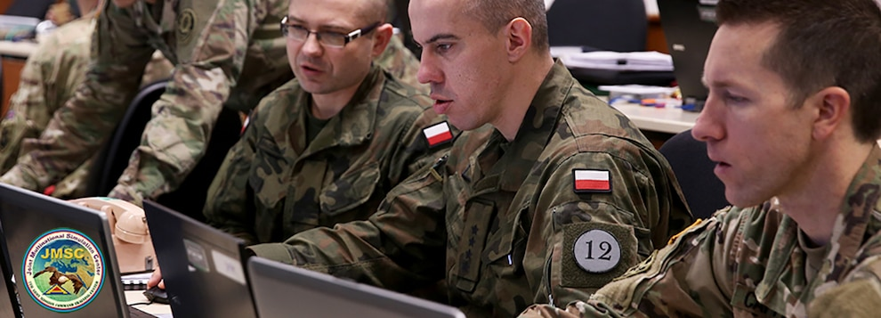 U.S. Army and Polish Army Soldiers work together as they participate in Allied Spirit VIII at 7th Army Training Command, Jan. 24, 2018. Allied Spirit VIII includes approximately 4,100 participants from 10 nations, Jan. 15-Feb. 5, 2018. Allied Spirit is a U.S. Army Europe-directed multinational exercise series designed to develop and enhance NATO and Key partner's interoperability and readiness. (U.S. Army photo by Staff Sgt. David Overson)