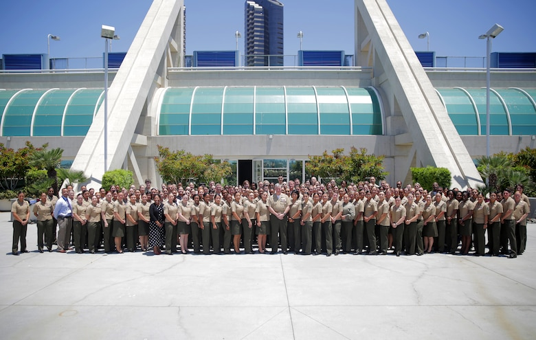 Marines from across the Marine Corps attend the 31st Annual Joint Women's Leadership Symposium at the San Diego Convention Center, June 21-22, 2018. The symposium brought together women from all of the U.S. services and 20 other countries to discuss topics ranging from women's health and wellness to professional development and leadership.