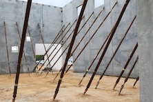 Walls Cast at Pierce Terrace