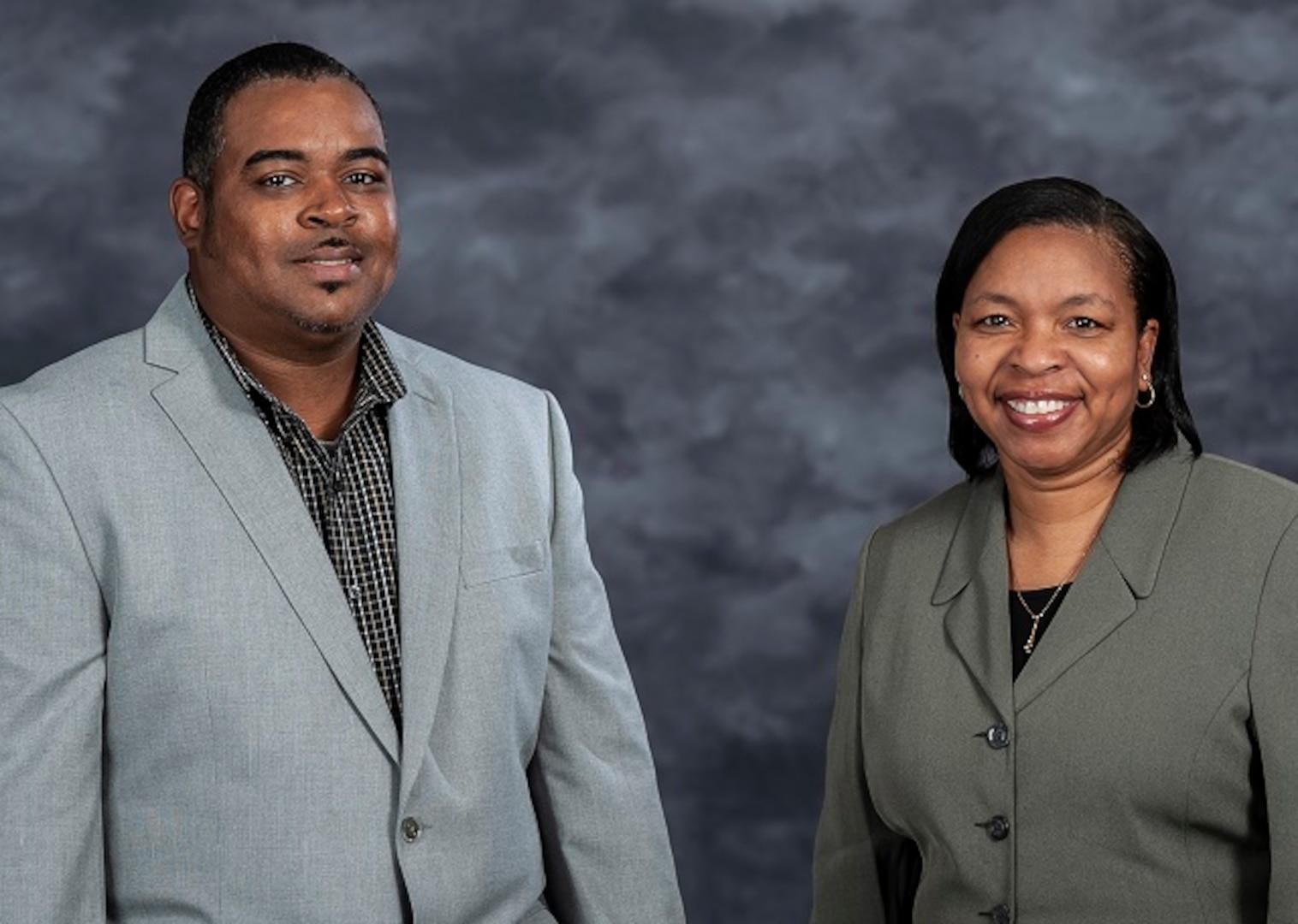 DLA HR Interns Eric Benton and Dianne Simmons