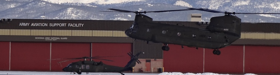 The Air Force Rescue Coordination Center here helped coordinate two CH-47 helicopters to assist with the evacuation of 140 campers in August, Montana who were threatened by flood waters. The AFRCC is responsible for assisting coordination with all inland search and rescue requests, 24/7/365, from around the continental United States. (Courtesy photo)