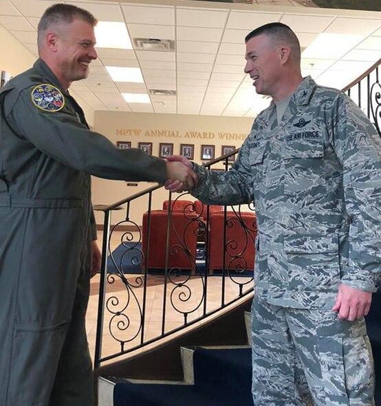 340th FTG commander meets the Firebirds