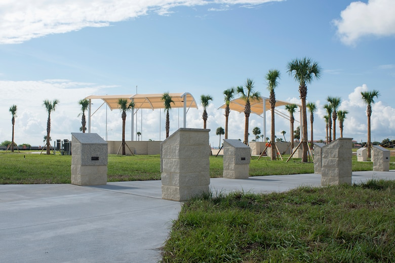 Construction continues at Memorial Park on MacDill Air Force Base, Fla., June 27, 2018.