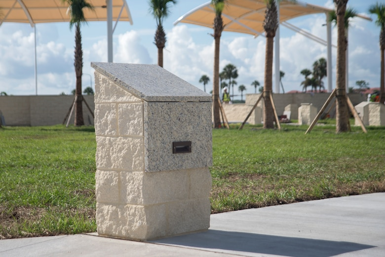 A new display at Memorial Park awaits the grand opening at MacDill Air Force Base, Fla., June 27, 2018.