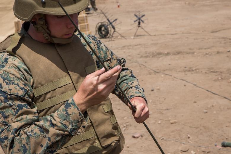Communications squadron 48 hones skills during Communications Exercise