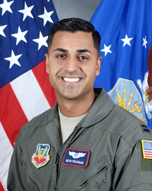 U.S. Air Force Captain Nitin Prashar, 38th Reconnaissance Squadron executive officer, poses for his official photograph August 16, 2017, at Offutt Air Force Base, Nebraska. Prashar created the Trail Blazer Scholarship which is offered to students who actively try to be a positive force for change in his home town of Rockford, Illinois, and in Omaha, Nebraska. (U.S. Air Force photo by D.P. Heard)