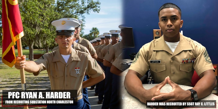 Private First Class Ryan A. Harder graduated Marine Corps recruit training June 29, 2018, aboard Marine Corps Recruit Depot Parris Island, South Carolina. Harder was the Honor Graduate of platoon 2048. Harder was recruited by SSgt. Ray C. Littles from Recruiting Substation North Charleston. (U.S. Marine Corps photo by Lance Cpl. Jack A. E. Rigsby)