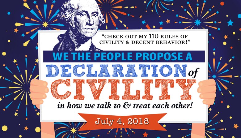 A July 4th declaration of civility artwork