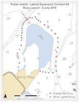 Poplar Island Cautionary Buoys Placement Map