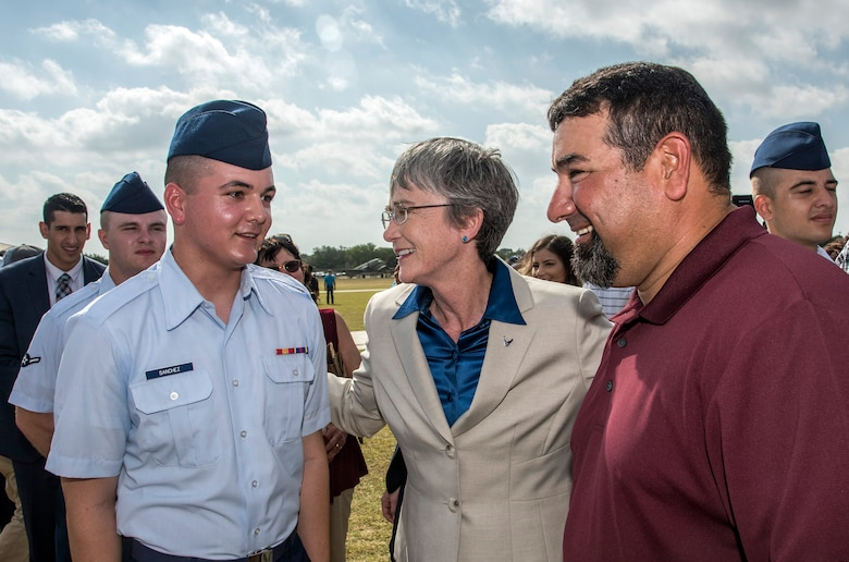 SECAF presides over BMT graduation