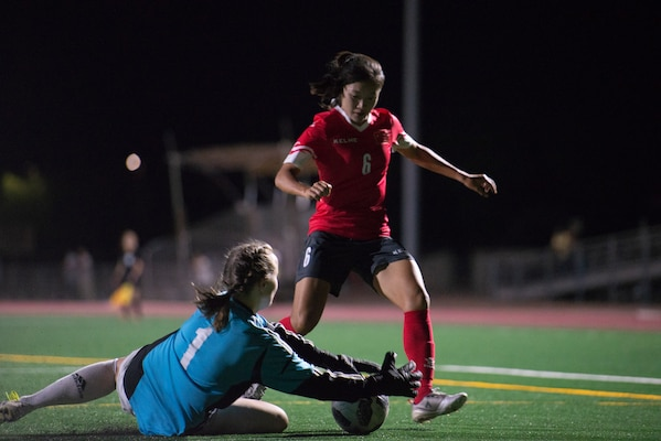 International military teams squared off to eventually crown the best women soccer players among the international militaries participating. U.S. Navy photo by