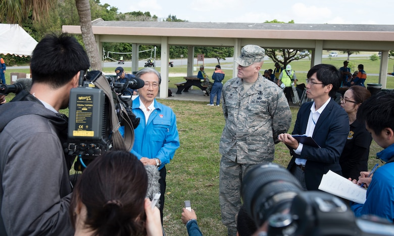 Always Prepare: Kadena opens gates to Chatan town during tsunami exercise