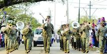 Quantico Marine Corps Band strikes up some jazzy tunes at Mardi Gras
