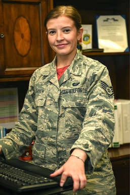Staff Sgt. Alyssa Farren is a personnelist who works in the Commander's Support Staff of the 202nd Intelligence Surveillance and Reconnaissance Group, 102nd Intelligence Wing, at Otis Air National Guard Base, Cape Cod, Mass.
