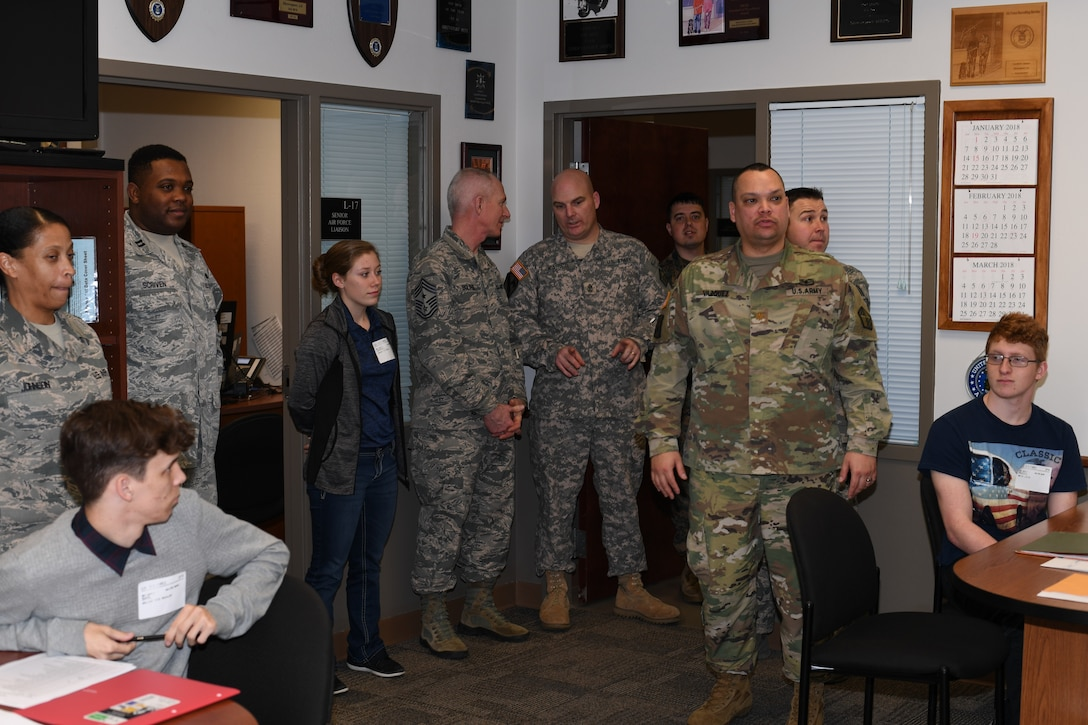 Air Force applicants receive career field guidance counseling at the Shreveport MEPS