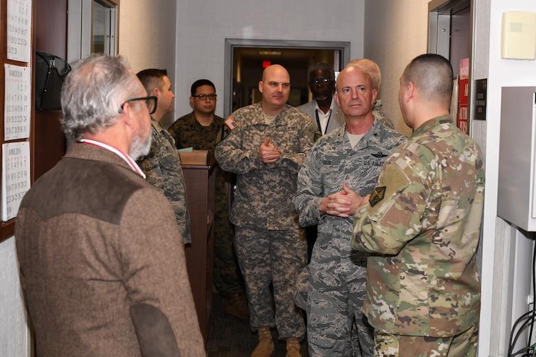 Eighth Air Force leadership tours the Shreveport MEPS Feb. 27, 2018.