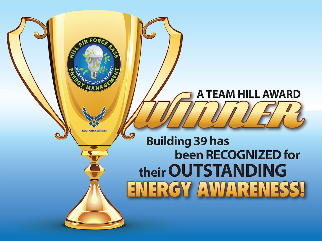 Building 39 has been recognized for their outstanding energy awareness. (U.S. Air Force graphic by David Perry)